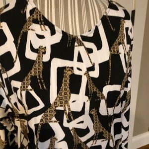 Chico's Animal Print Blouse size 2